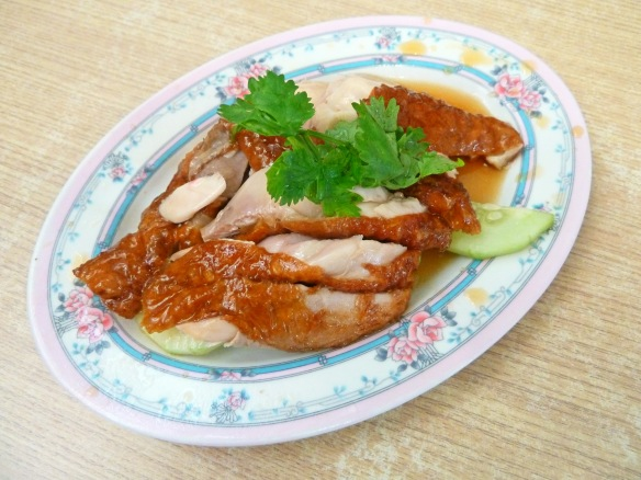 For Singaporeans, the chicken rice always comes first. Here's Yeo Keng Nam's roasted varietal. © Desiree Koh