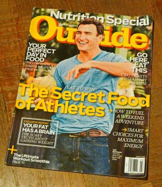 Outside's March 2013 issue - the sport of eating.